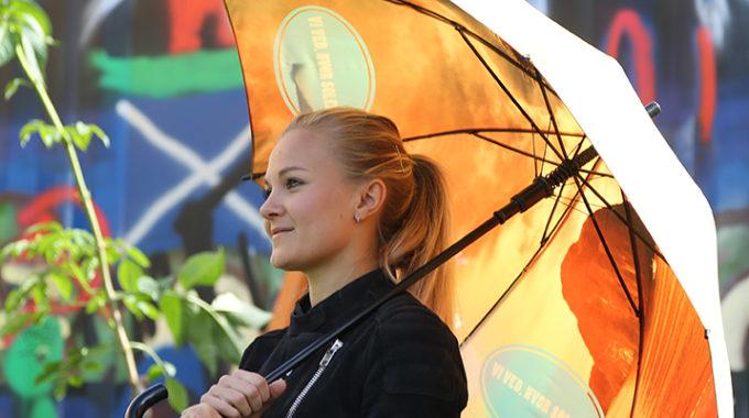 Reklamparaply Företag Från City Umbrella